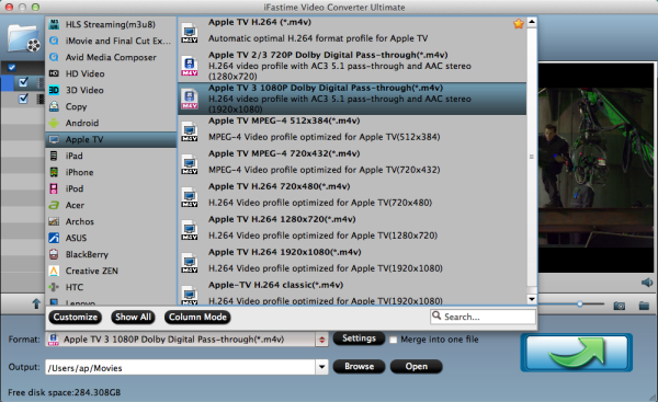 Stream MP4 to Apple TV