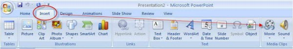 Add MP4 in PowerPoint 2007
