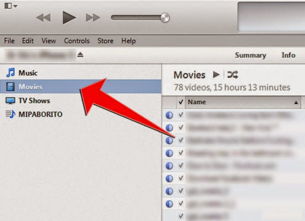movies in itunes