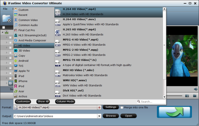 Play DJI Phantom 4 4K videos on VLC Player