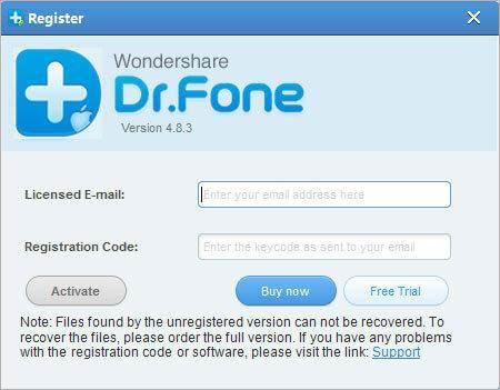 wondershare doctor fone registration code