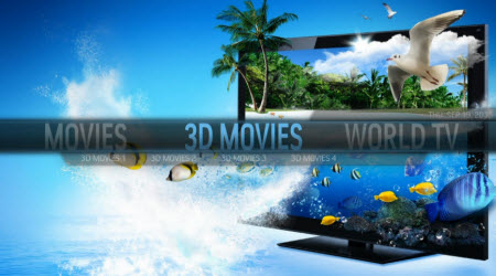 Watch 3D films on LG 4K TV/3D TV/LED TV/Smart TV