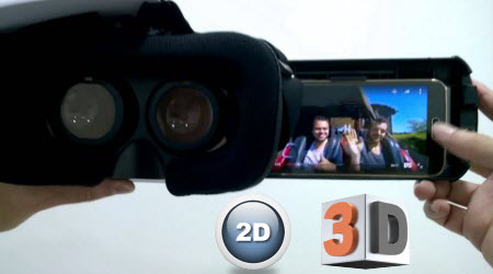View 2D/3D movies with VR Box through iPhone/Android