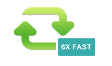 6x faster conversion speed